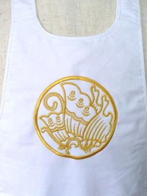 お祭り用 腹掛 家紋刺繍